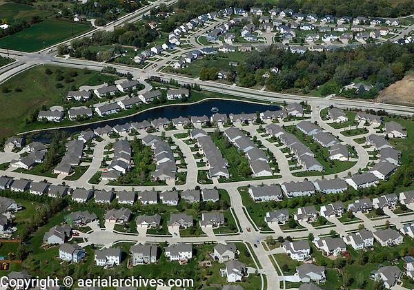 aerial photograph residential development west Des Moines, Iowa