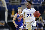 Bishop Gorman's Christian Popoola Jr. brings the ball up the court against Reno during the NIAA Division I state basketball tournament in Reno, Nev. on Thursday, Feb. 25, 2016. Gorman won 70-39. Cathleen Allison/Las Vegas Review-Journal