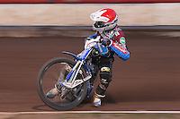 Heat 7: Piotr Swiderski of Lakeside - Vortex Lakeside Hammers vs Kings Lynn Stars - Sky Sports Elite League Speedway at Arena Essex Raceway, Purfleet - 23/04/13 - MANDATORY CREDIT: Gavin Ellis/TGSPHOTO - Self billing applies where appropriate - 0845 094 6026 - contact@tgsphoto.co.uk - NO UNPAID USE.