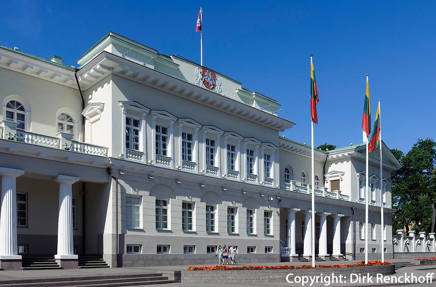 Präsidentenpalast in Vilnius, Litauen, Europa, Unesco-Weltkulturerbe