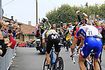 World Champion Alejandro Valverde (ESP) Movistar Team puts the hurt on the main contenders including Thibaut Pinot (FRA) Groupama-FDJ up the Superga for the 1st ascent during the 99th edition of Milan-Turin 2018, running 200km from Magenta Milan to Superga Basilica Turin, Italy. 10th October 2018.<br /> Picture: Eoin Clarke | Cyclefile<br /> <br /> <br /> All photos usage must carry mandatory copyright credit (© Cyclefile | Eoin Clarke)