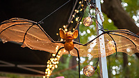 Golden Bat, Arts A Glow Festival 2017, Dottie Harper Park, Burien, WA, USA.