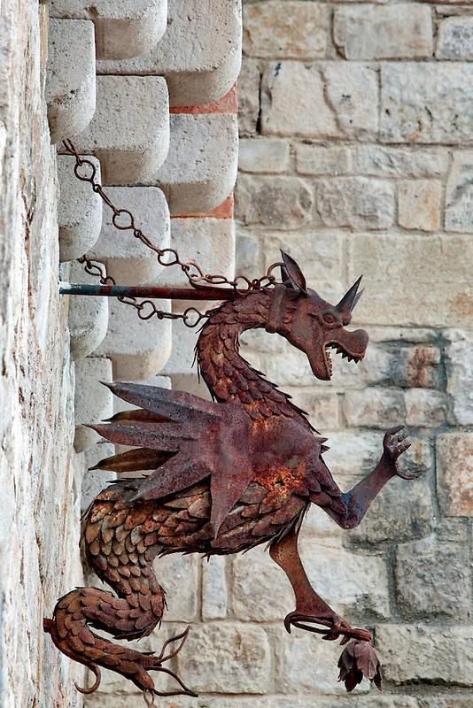 Iron Dragon at Castello di Amorosa. Napa Valley, California. Property relased