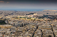 Fine Art Landscape Photograph of the city skyline and the Acropolis in Athens, Greece.