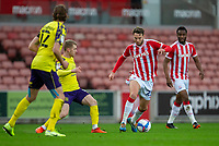 21st November 2020; Bet365 Stadium, Stoke, Staffordshire, England; English Football League Championship Football, Stoke City versus Huddersfield Town; Nick Powell of Stoke City under pressure