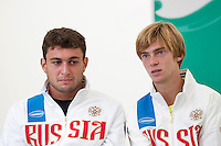 Moscow, Russia, 14 th July, 2016, Tennis,  Davis Cup Russia-Netherlands, Start of the draw, Russian team<br /> Photo: Henk Koster/tennisimages.com