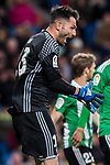 Goalkeeper Antonio Adan of Real Betis reacts during their La Liga match between Real Madrid and Real Betis at the Santiago Bernabeu Stadium on 12 March 2017 in Madrid, Spain. Photo by Diego Gonzalez Souto / Power Sport Images