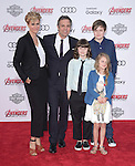 "Sunrise Coigney, actor Mark Ruffalo, Keen Ruffalo, Bella Noche and Odette Ruffalo attends The World Premiere of Marvel's ""Avengers"" Age of Ultron,"" held at The Dolby Theatre in Hollywood, California on April 13,2015                                                                               © 2014 Hollywood Press Agency"