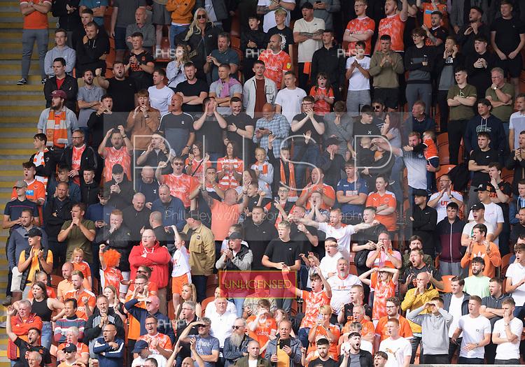 11/09/2021 Sky Bet Championship Blackpool v Fulham<br /> <br /> Fans ind their voice