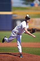 Peoria Javelinas pitcher Evan Mitchell (16), of the Cincinnati Reds organization, during a game against the Mesa Solar Sox on October 19, 2016 at Peoria Stadium in Peoria, Arizona.  Peoria defeated Mesa 2-1.  (Mike Janes/Four Seam Images)