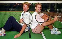 1993, Hilversum, Tennis, Melkhuisje, Paul Haarhuis and Jacco Eltingh(R)
