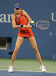 Daniela Hantuchova (RUS) loses to Victoria Azarenka (BLR) 6-2, 6-3 at the US Open being played at USTA Billie Jean King National Tennis Center in Flushing, NY on September 4, 2013