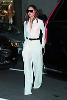 OCT 13 Victoria Beckham arrives at her hotel in NYC