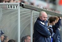 ATTENTION SPORTS PICTURE DESK<br /> Pictured: Sven Goran Eriksson manager for Leicester<br /> Re: Npower Championship, Swansea City Football Club v Leicester City at the Liberty Stadium, Swansea, south Wales. Saturday 23 October 2010