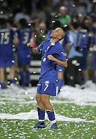 Italian forward (7) Alessandro Del Piero celebrates winning the World Cup by dancing following the game.  Italy defeated France on penalty kicks after leaving the score tied, 1-1, in regulation time in the FIFA World Cup final match at Olympic Stadium in Berlin, Germany, July 9, 2006.