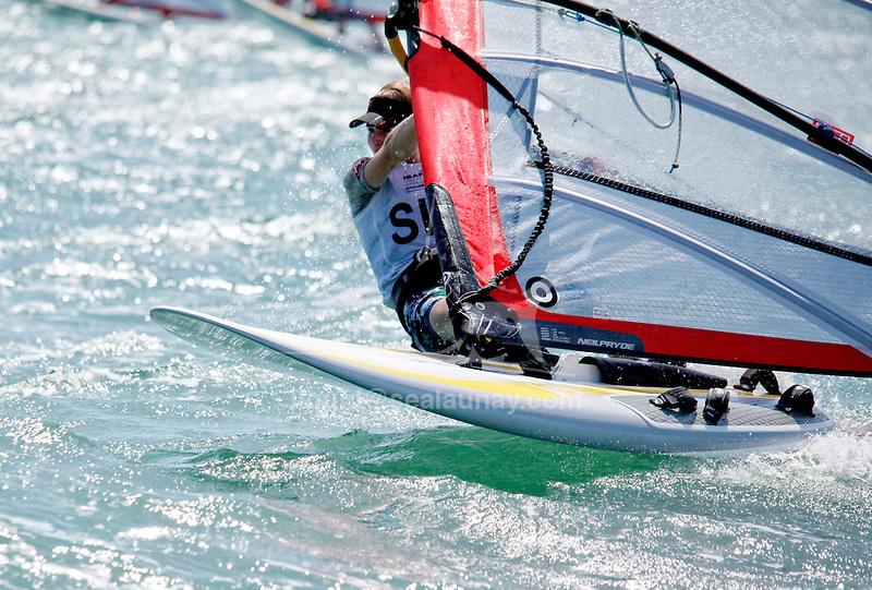 SingaporeRS:XMenHelmSINIM1IzzazMohammad<br /> Day1, 2015 Youth Sailing World Championships,<br /> Langkawi, Malaysia