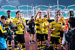 Borussia Dortmund Defender Erik Durm (C) and his teammates interacting with supporters during the International Champions Cup 2017 match between AC Milan vs Borussia Dortmund at University Town Sports Centre Stadium on July 18, 2017 in Guangzhou, China. Photo by Marcio Rodrigo Machado / Power Sport Images