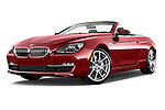 Low aggressive front three quarter view of a 2014 BMW 6 Series Convertible 3A