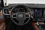 Car pictures of steering wheel view of a 2019 Volvo S90 Inscription PHEV T8 AWD 4 Door Sedan