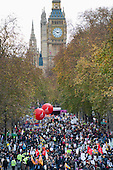 Strike by public sector workers over pensions. London.