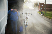 post race cleaning<br /> <br /> GP Sven Nys 2014