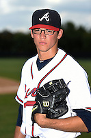 GCL Braves pitcher Luis Gamez (64) poses for a photo after a game against the GCL Blue Jays on June 27, 2014 at ESPN Wide World of Sports in Orlando, Florida.  GCL Braves defeated GCL Blue Jays 10-9.  (Mike Janes/Four Seam Images)