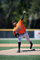 Baltimore Orioles Brandon Bonilla (64) delivers a pitch during a minor league Spring Training game against the Minnesota Twins on March 17, 2017 at the Buck O'Neil Baseball Complex in Sarasota, Florida.  (Mike Janes/Four Seam Images)
