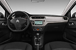 Stock photo of straight dashboard view of a 2017 Citroen C-Elysee Live 4 Door Sedan