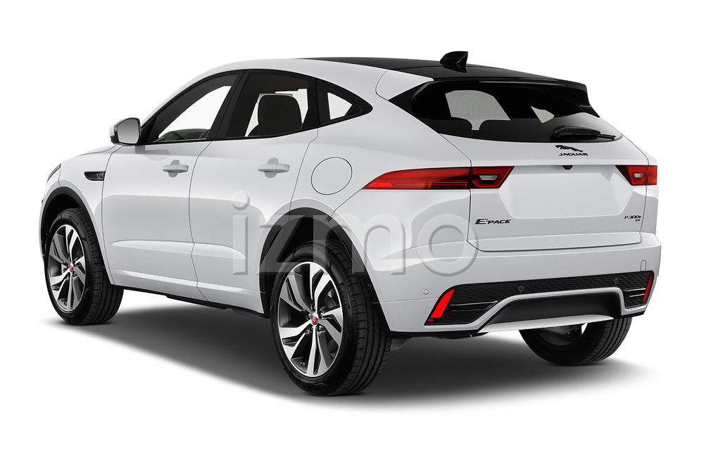 Car pictures of rear three quarter view of 2021 Jaguar E-Pace R-Dynamic-HSE 5 Door SUV Angular Rear