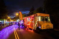 Food Truck at Night, Arts-A-Glow Festival, Dottie Harper Park, Burien, WA, USA.