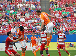 Houston Dynamo forward Cam Weaver (15) in action during the game between the FC Dallas and the Houston Dynamo at the FC Dallas Stadium in Frisco,Texas.