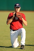 September 14, 2009:  Kavin Keyes, one of many top prospects in action, taking part in the 18U National Team Trials at NC State's Doak Field in Raleigh, NC.  Photo By David Stoner / Four Seam Images