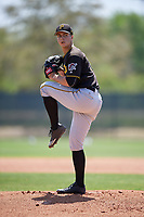 Pittsburgh Pirates pitcher Max Kranick (39) delivers a pitch during a minor league Spring Training game against the Philadelphia Phillies on March 24, 2017 at Carpenter Complex in Clearwater, Florida.  (Mike Janes/Four Seam Images)
