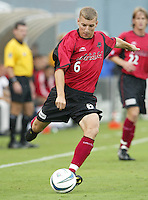 26 June 2004:  Dallas Burn Ronnie O'Brien in action against DC United at Cotton Bowl in Dallas, Texas.   DC United and Dallas Burn are tied 1-1 after the game.   Credit: Michael Pimentel / ISI