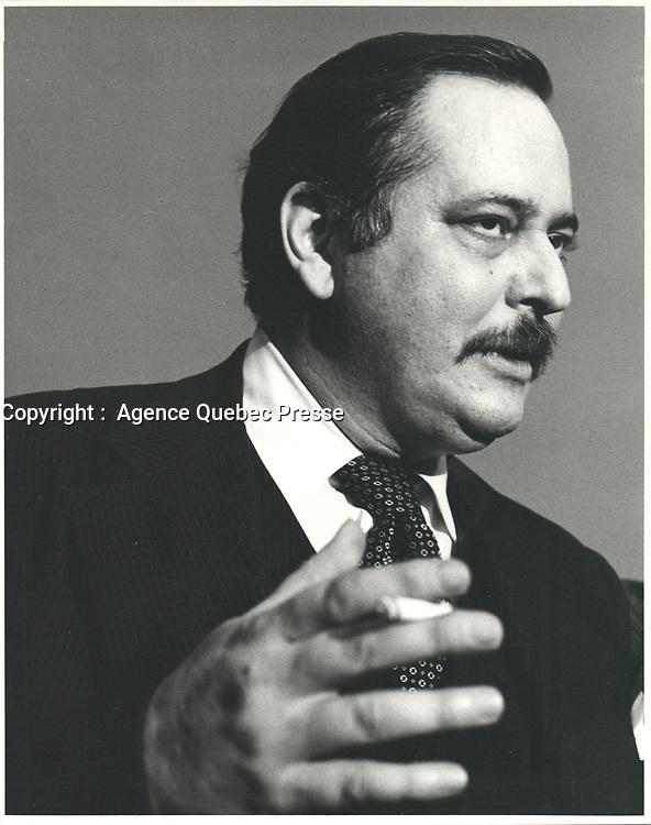 Le ministre des finances, Jacques Parizeau, avril 1978<br /> <br /> PHOTO : JJ Raudsepp  - Agence Quebec presse