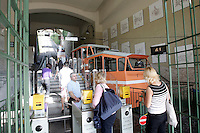 La funicolare che collega la Citta' Alta e la Citta' Bassa, a Bergamo.<br /> The funicular to the upper town of Bergamo.<br /> UPDATE IMAGES PRESS/Riccardo De Luca