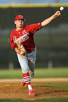 Johnson City starting pitcher Nicholas Additon (16) in action versus Princeton at Hunnicutt Field in Princeton, WV, Friday, August 10, 2007.