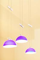 Modern purple pendant lighting fixtures.