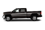 Car driver side profile view of a 2019 GMC Sierra 2500HD 2WD Crew Cab Standard Box SLT 4 Door Pick Up
