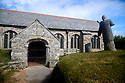 Gunwalloe Church Gove in Lizard, Cornwall with breaking waves  CREDIT Geraint Lewis