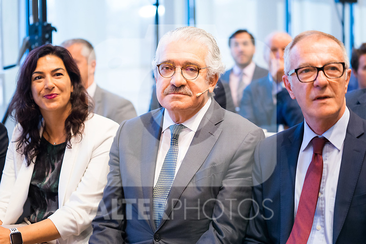 Sports minister Jose Guirao (r) CEO of Endesa Jose Bogas during the official presentation of Spanish National Team of Basketball.  July 24, 2019. (ALTERPHOTOS/Francis Gonzalez)
