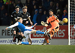 St Johnstone v Rangers…27.02.18…  McDiarmid Park    SPFL<br />David Wotherspoon shoots over the bar<br />Picture by Graeme Hart. <br />Copyright Perthshire Picture Agency<br />Tel: 01738 623350  Mobile: 07990 594431