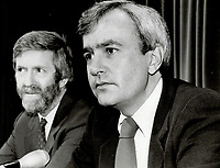 1985 FILE PHOTO - ARCHIVES -<br /> <br /> David Peterson<br /> <br /> 1985<br /> <br /> PHOTO :  Erin Comb - Toronto Star Archives - AQP