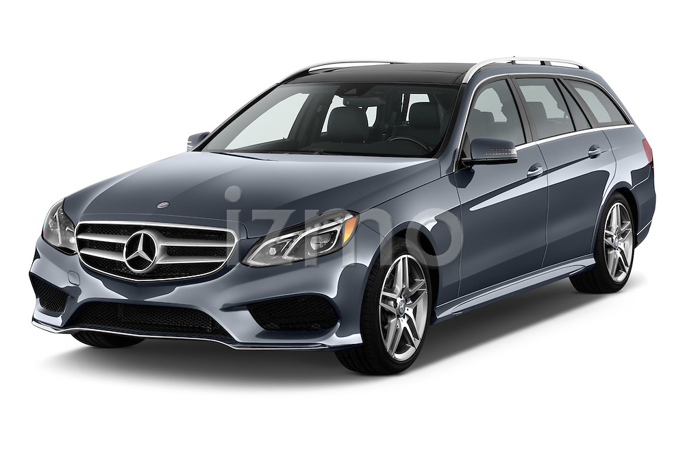 Front three quarter view of a 2014 Mercedes E350 4Matic Wagon