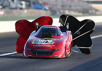 Sep 5, 2020; Clermont, Indiana, United States; NHRA funny car driver Dale Creasy Jr during qualifying for the US Nationals at Lucas Oil Raceway. Mandatory Credit: Mark J. Rebilas-USA TODAY Sports