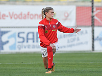 20190227 - LARNACA , CYPRUS : Austrian  pictured during a women's soccer game between the Super Falcons of Nigeria and Austria , on Wednesday 27 February 2019 at the AEK Arena in Larnaca , Cyprus . This is the first game in group C for both teams during the Cyprus Womens Cup 2019 , a prestigious women soccer tournament as a preparation on the Uefa Women's Euro 2021 qualification duels. PHOTO SPORTPIX.BE | DAVID CATRY