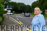 Cllr Marie Moloney who is asking the council for a solution to the accident blackspot at Madams Hill Killarney