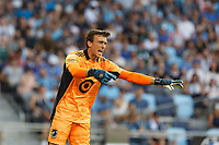 ST PAUL, MN - JULY 24: Tyler Miller #1 of Minnesota United FC during a game between Portland Timbers and Minnesota United FC at Allianz Field on July 24, 2021 in St Paul, Minnesota.
