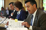Gov. Brian Sandoval presides over a Board of Examiners meeting at the Capitol in Carson City, Nev., on Monday, Aug. 15, 2011. The board approved a move to reimburse counties for the cost of next month's special election as requested by Secretary of State Ross Miller..Photo by Cathleen Allison