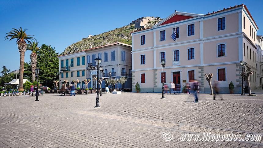 The square of Nafplio, Greece